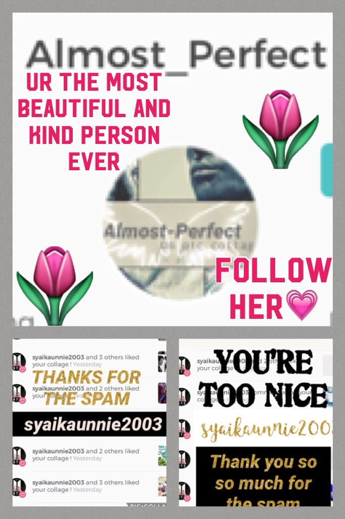 Follow her💗I liked her pic's she did that for me 💗💗💗