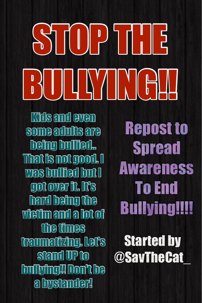 STOP THE BULLYING!!