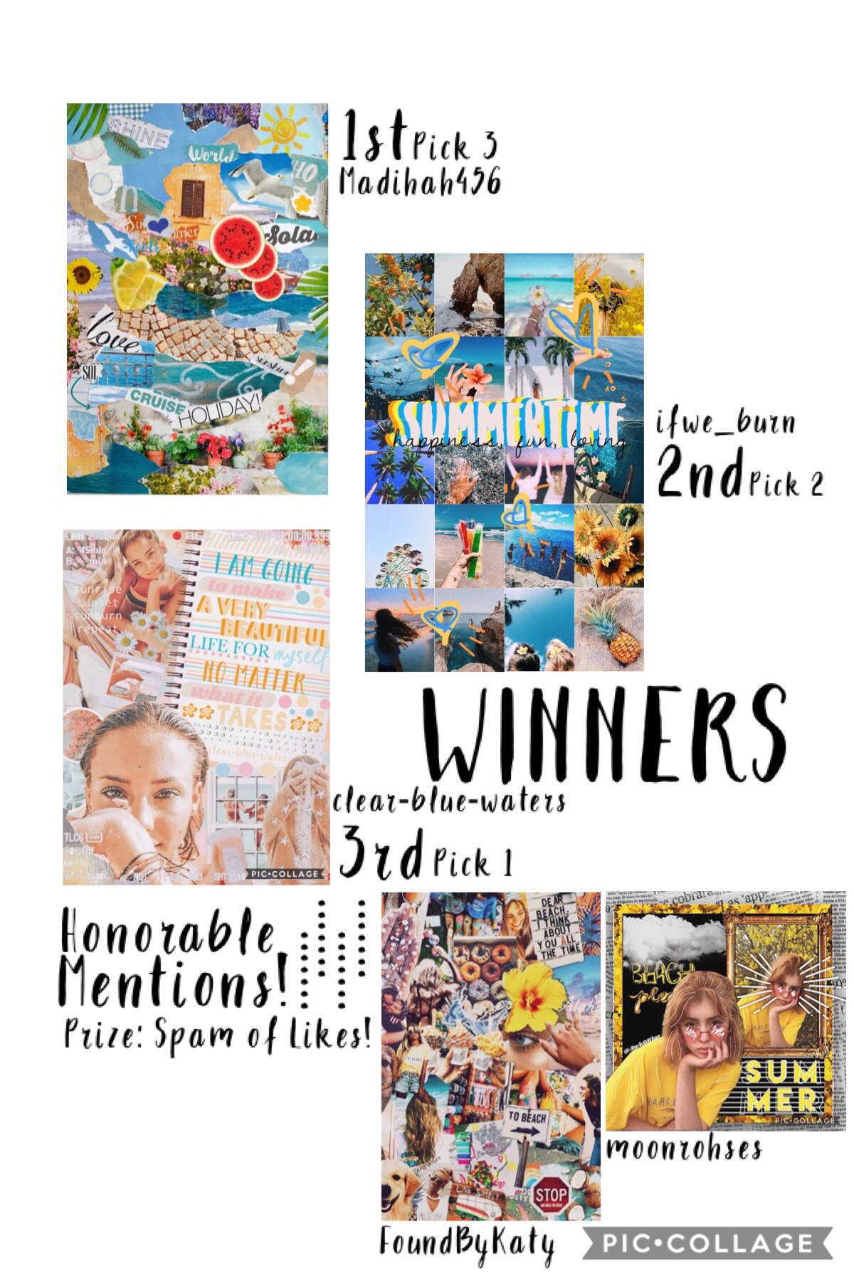 TAP!   So exited!!! Thx everyone for entering! The people who won represented summer the most! Comment for your prize!!