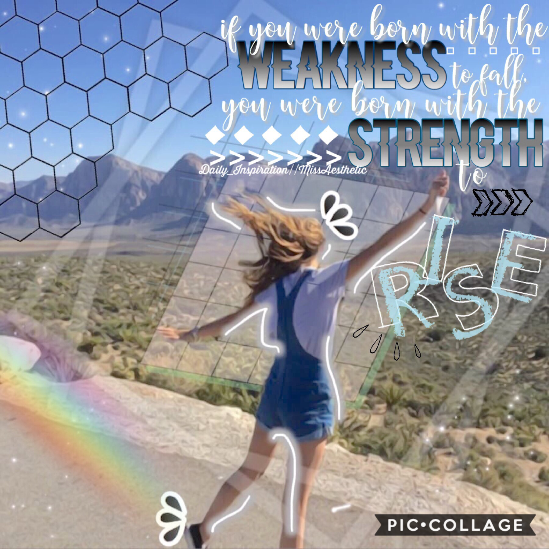 ✨tap✨ Here's the inspiration of the day! This quote is so powerful! You always have the strength to rise!💗😊 This was a collab with MissAesthetic; she is sooo talented! Go check out her awesome collages! QOTD:🍉or 🍓 AOTD: 🍓  8/22/2018