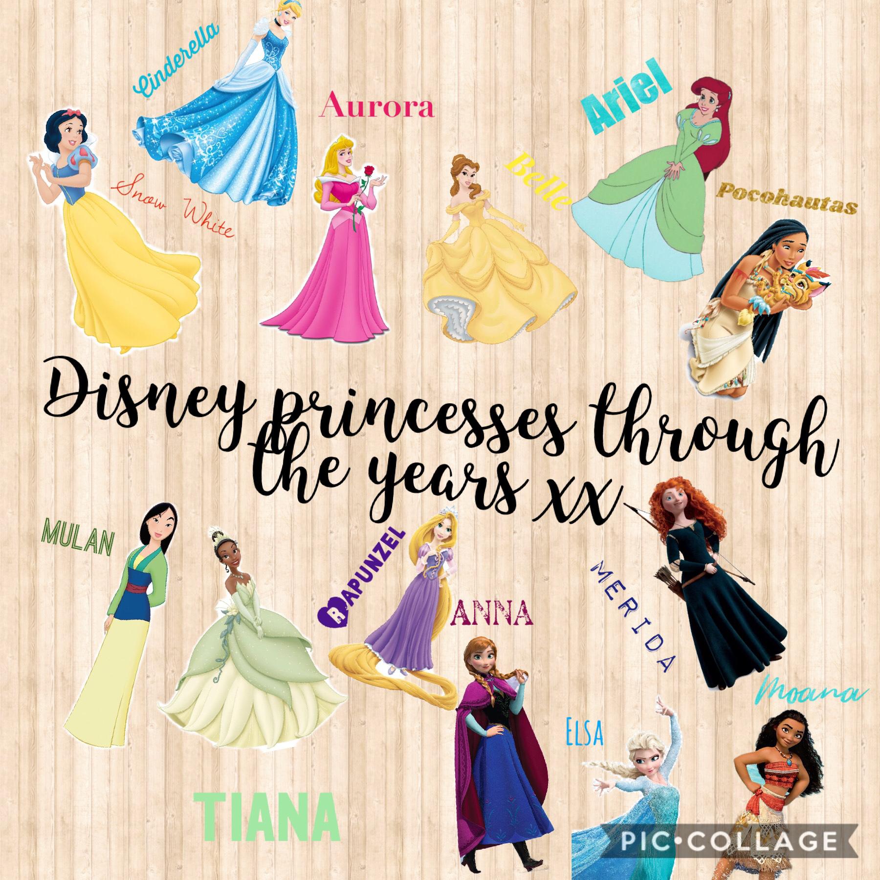 Disney princesses through the years