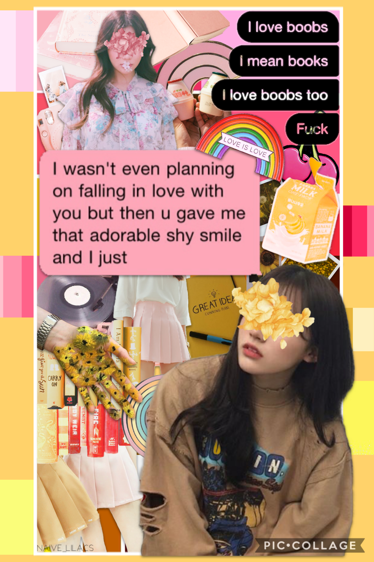 Thoughts on this?💕This took a long of time haha, but I'm proud of it😊check remixes for background 🌸🌼🛍💝📒🦩🐥🌷🌙