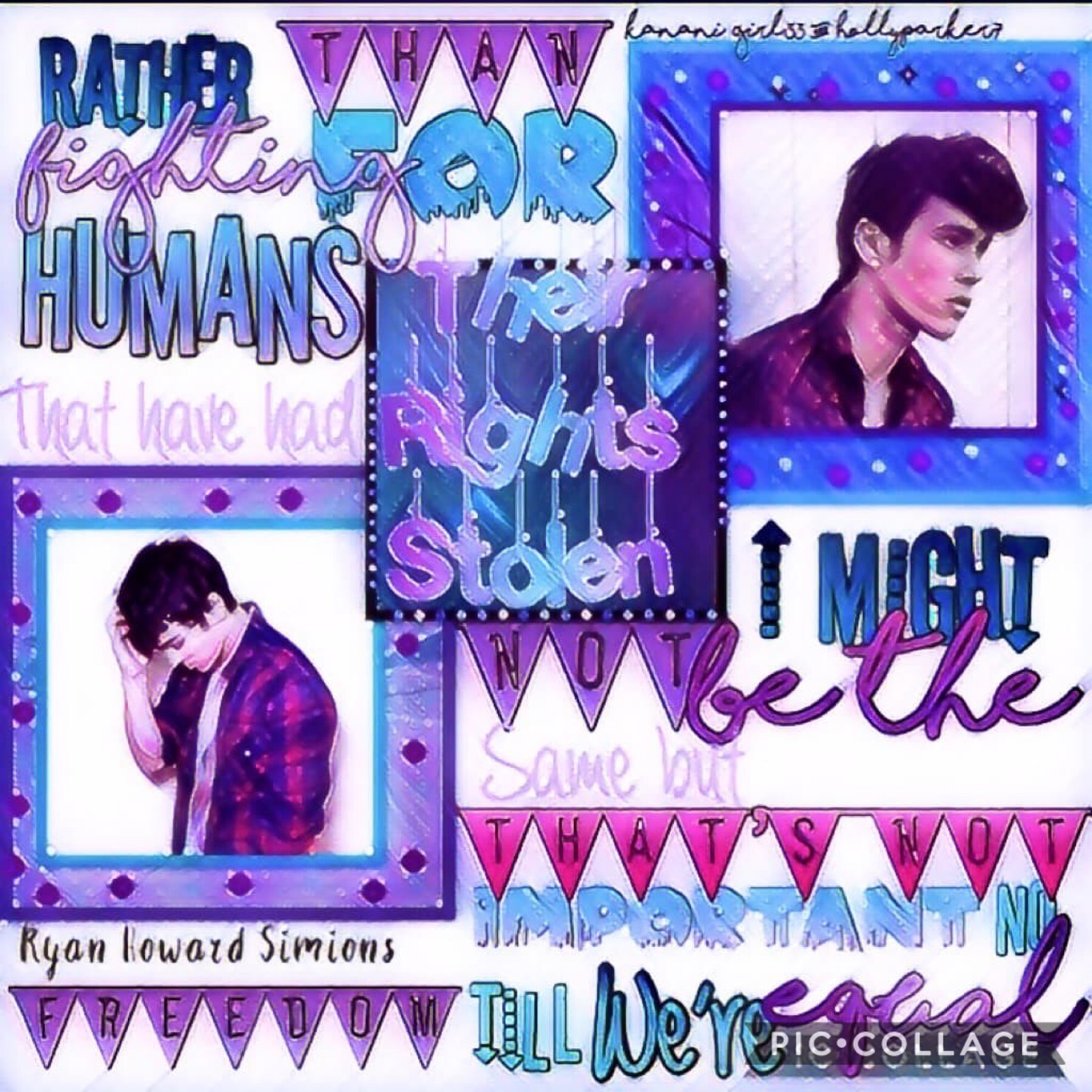 Collab with ♥️♥️♥️ The AMAZING HollyParker7!!!!! She is just the best!! She did the gorgeous background and special effects and I did the text! Qotd: what is your favorite color? 💜