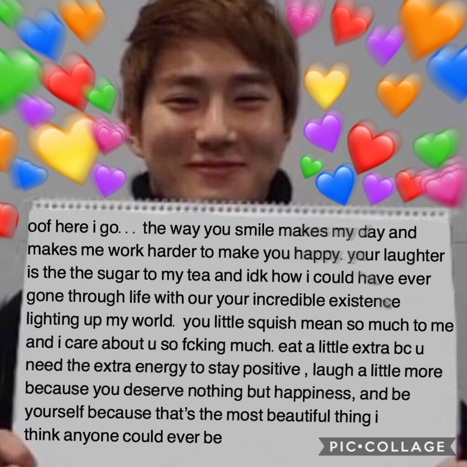 hellu im the other person on this acc... here's my first post! just wrote this while thinking about all the ppl i love (u know who u r) ❤️