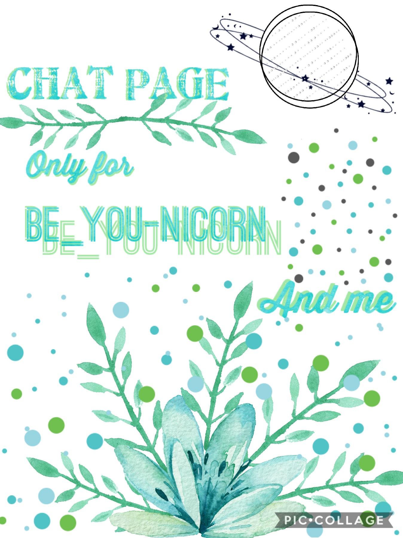 Chat page only for the beautiful Be_you-nicorn and I. ❤️❤️