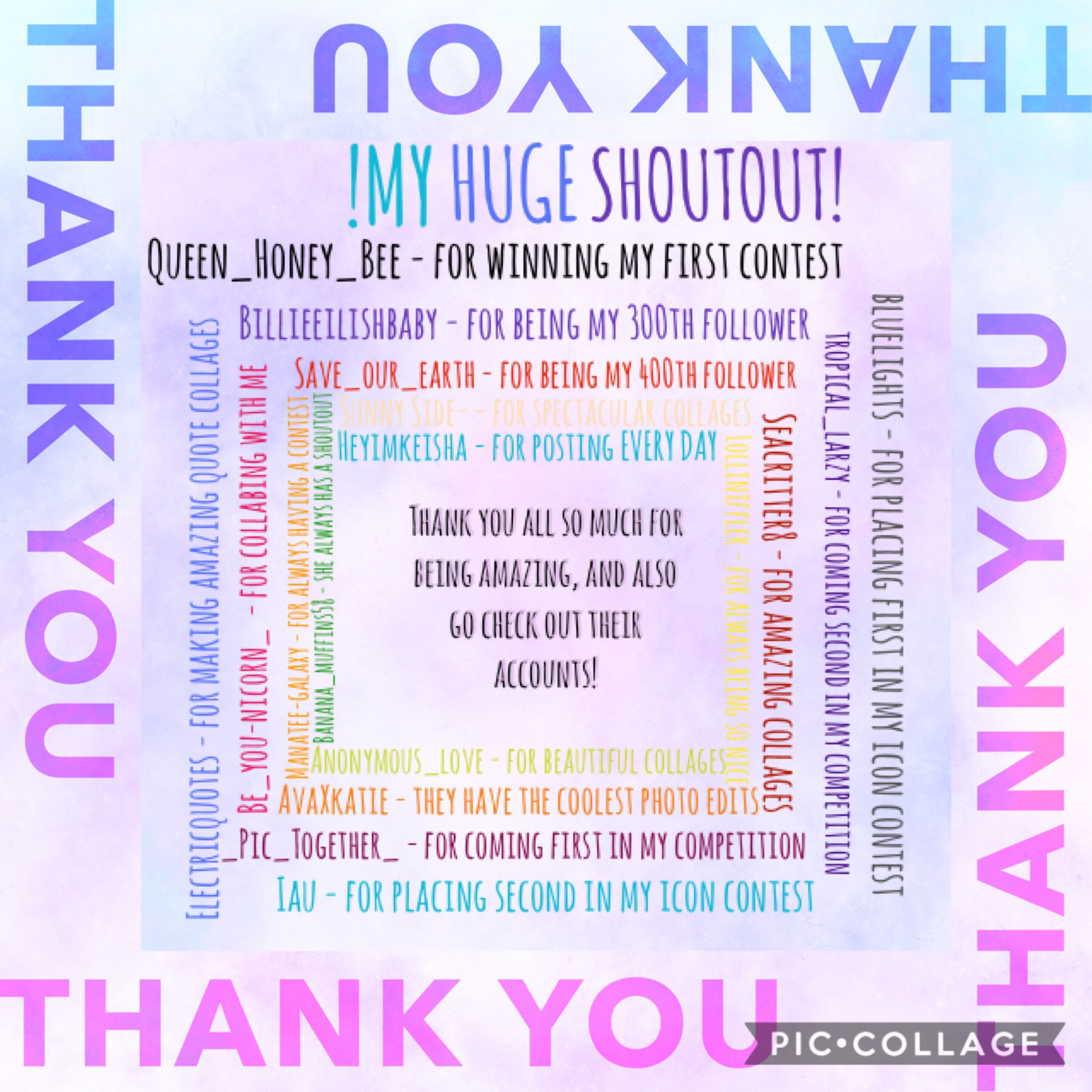 I have been promising this for ages! And here it is! Congratulations to all who got a shout out! If I didn't give you a shout out I hold nothing against you, still love you 💕