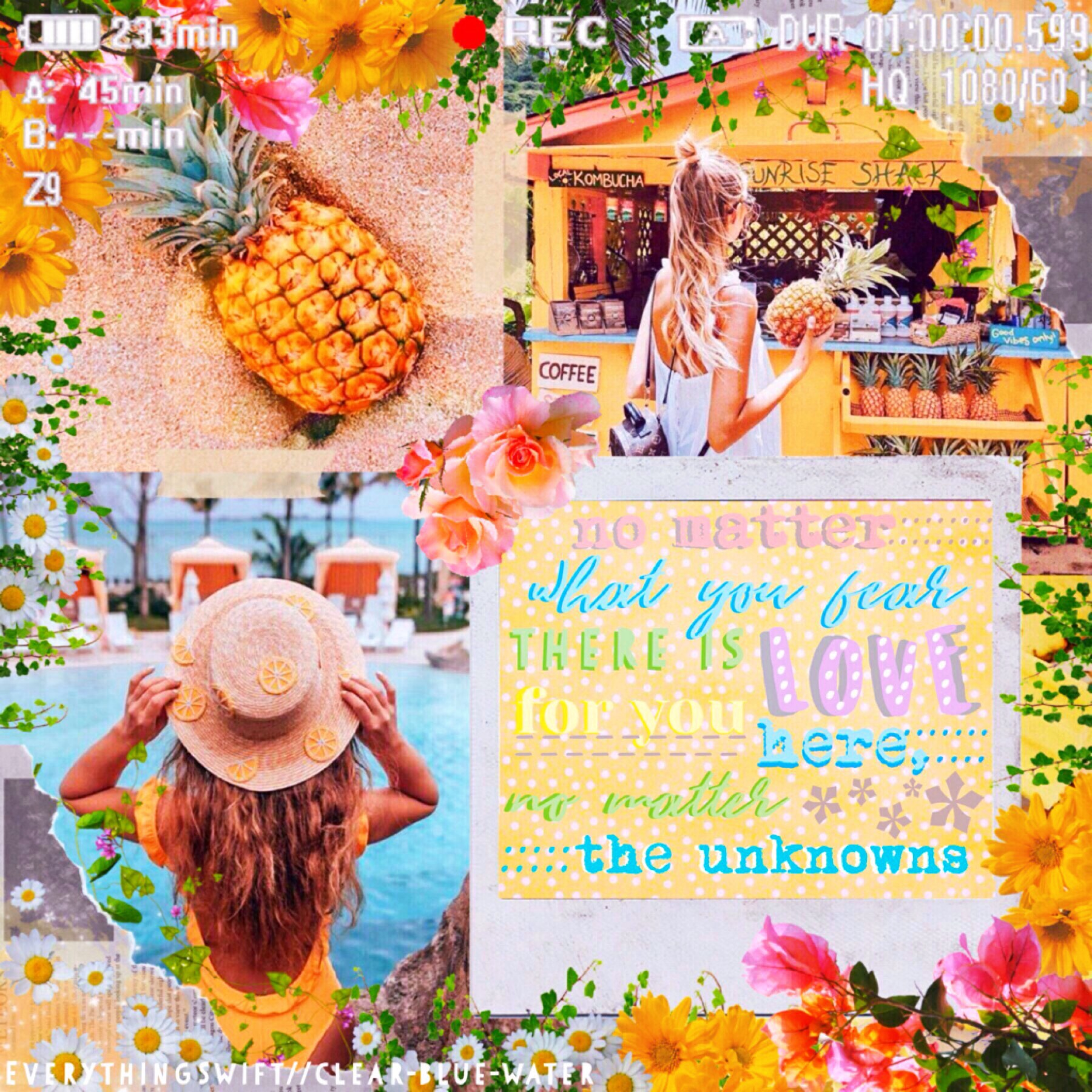 Repost bc of glitch. Collab with my bestie clear-blue-water who did the bg! Tap! 🌸 QOTD: What is your dream vacation? AOTD: Greece, New Zealand, or anywhere tropical!