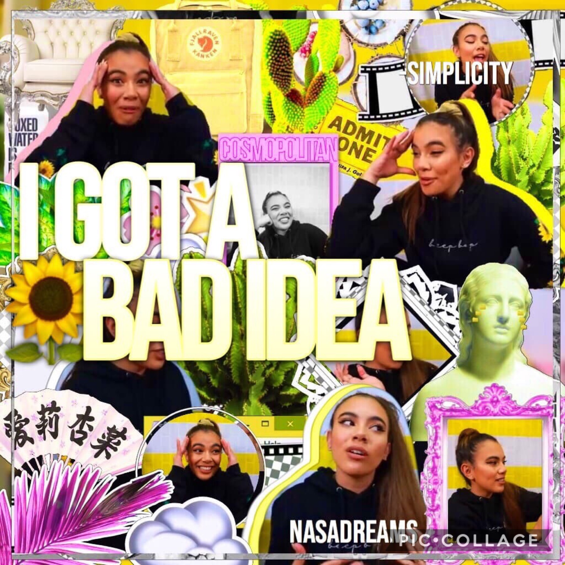 Collab with..,, Nasadreams!!! She is so amazing and talented!! If you wanted to know, I did the ugly side😂 QOTD: Ariana grande or Taylor Swift AOTD: Ariana Grande🤣