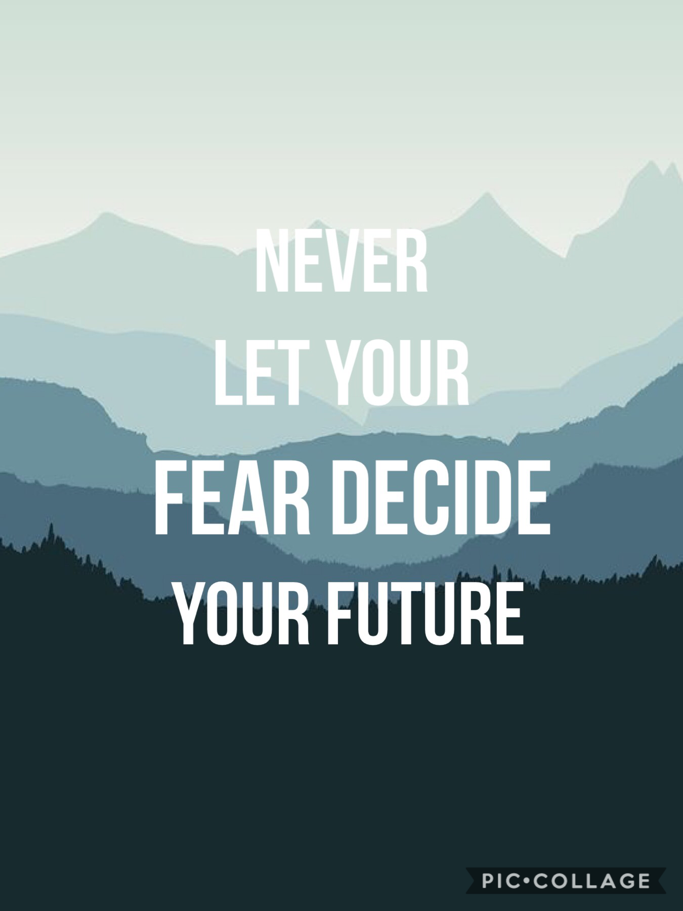 Never let you fear decide your future 👍