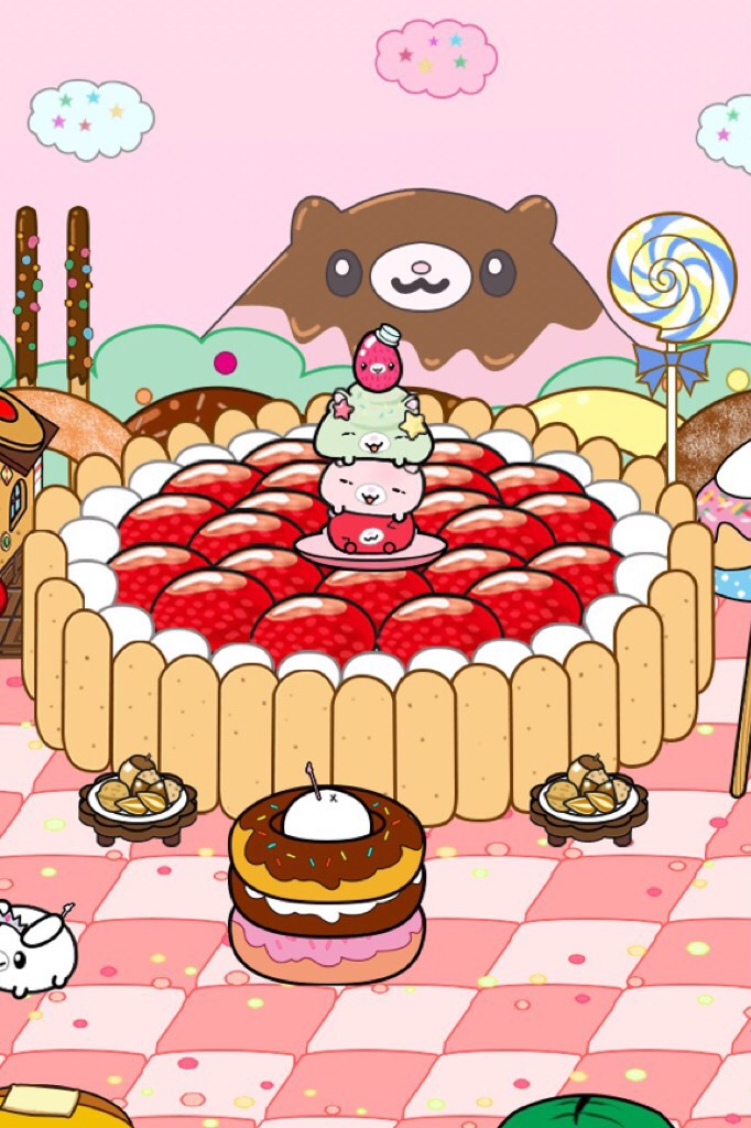 Oml finally :3 The ones that are on the big cake are the ones i've been wanting. Btw this is a game named spoonpets that I am playing