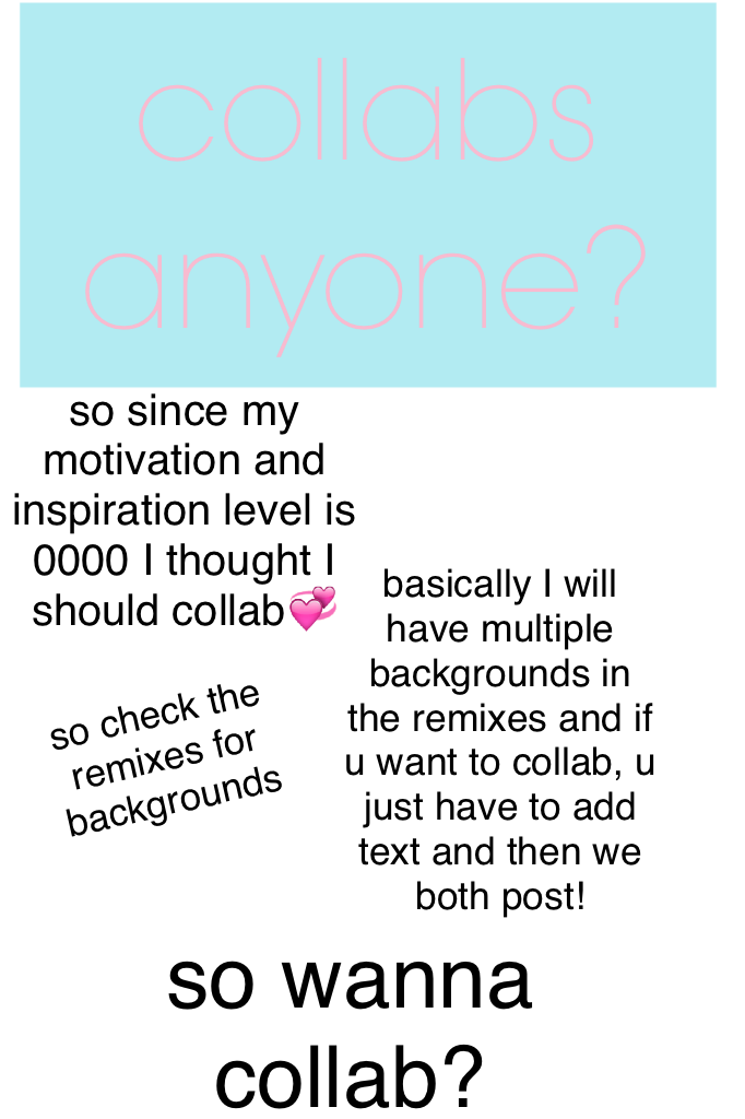COLLAB ANYONE? (theme is still pink and girly 💞)