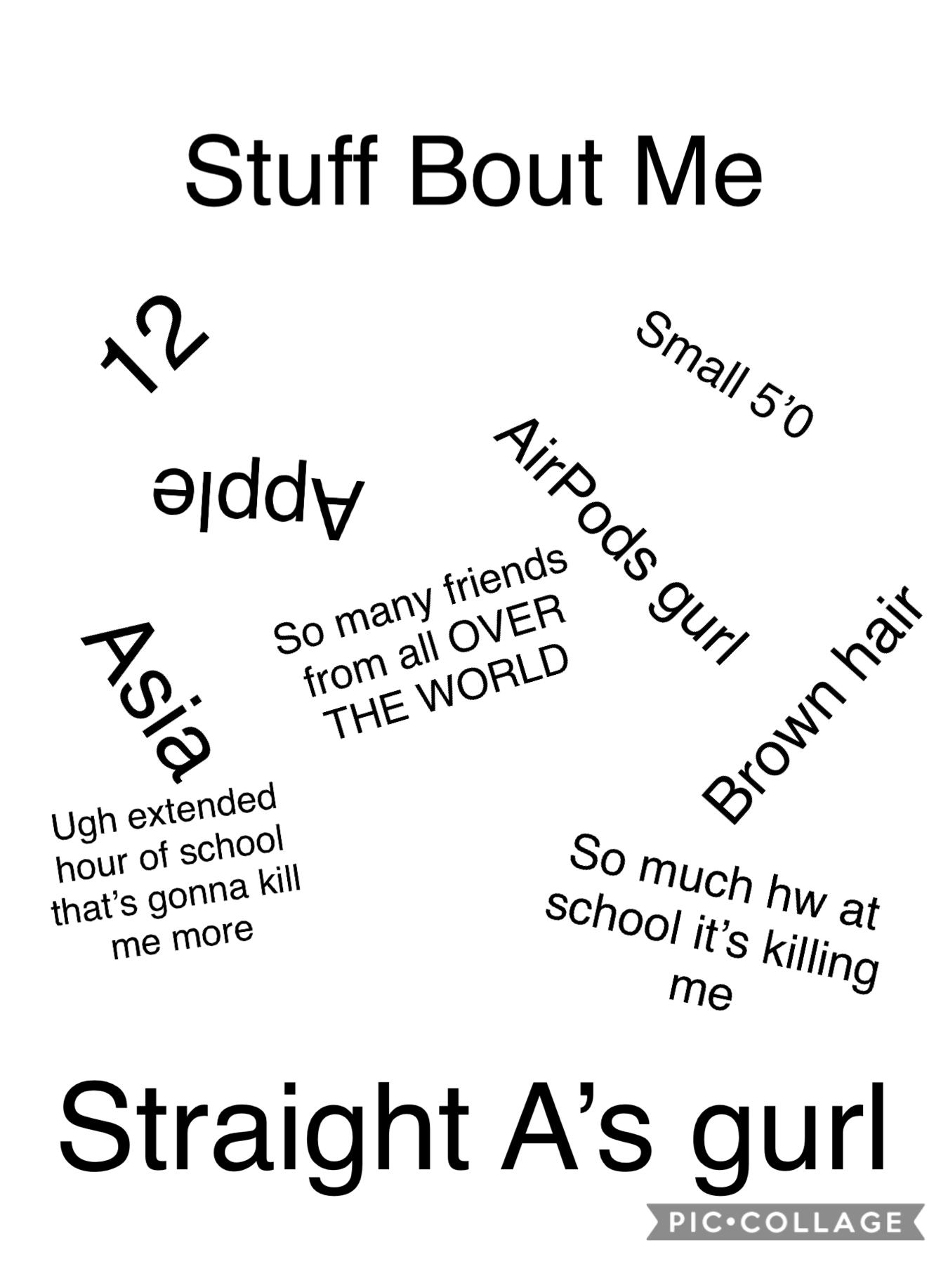 Stuff bout me