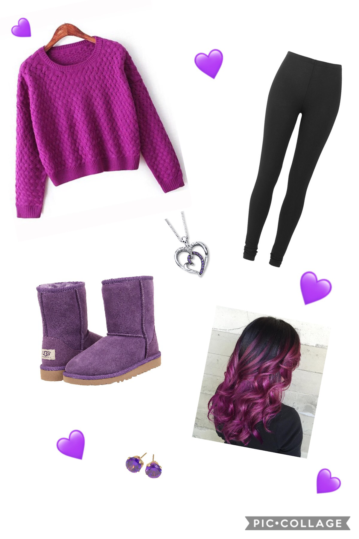 Purple outfit of the day! 💜