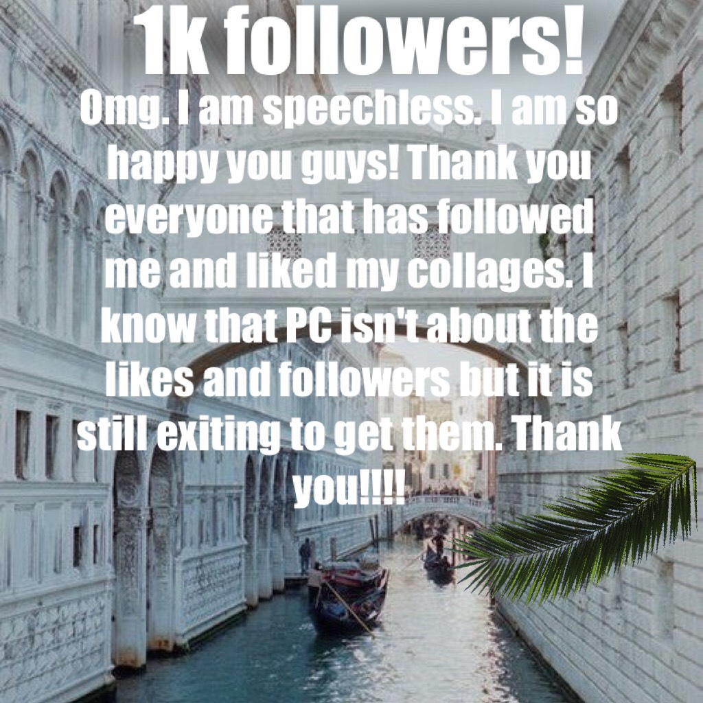 1k followers!