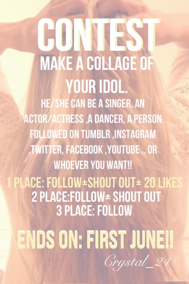 #CONTEST# Make a collage of your idol.