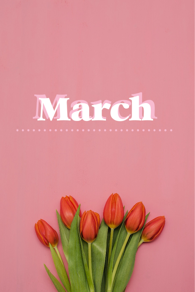 Tap🌷 March is here! A simple collage 💛
