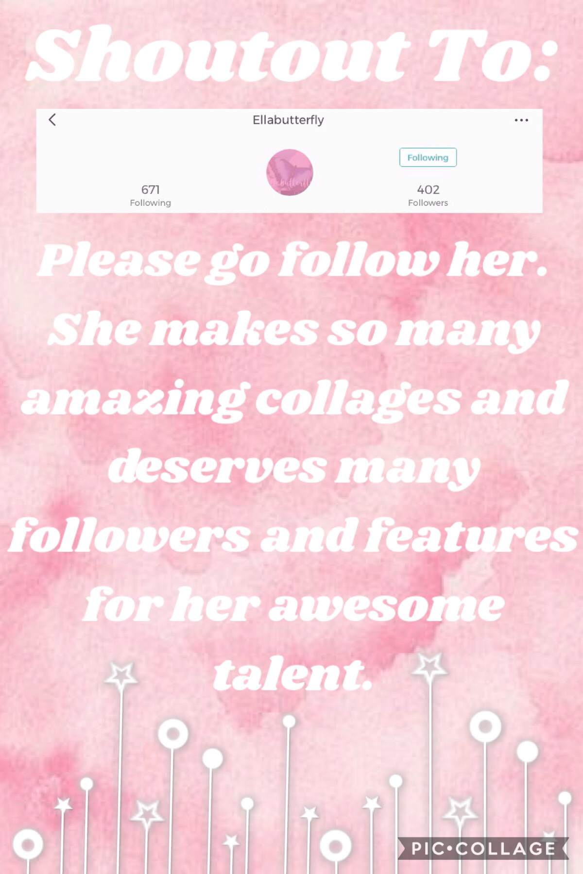 Yay!! Go follow her.