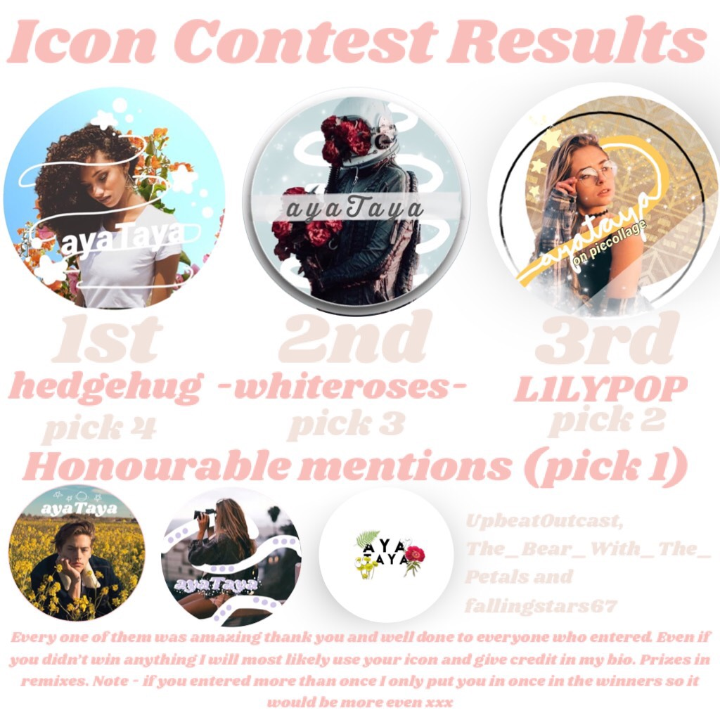 TYSM to everyone who entered - pleaseee go follow -duhitskeir-, SqueakyPea, Amanda_369, fallingstars67, UpbeatOutcast, The_Bear_With_The_Petals, hedgehug, -whiteroses- and *deep breath* L1LYPOP 😅💗💗xxxxx