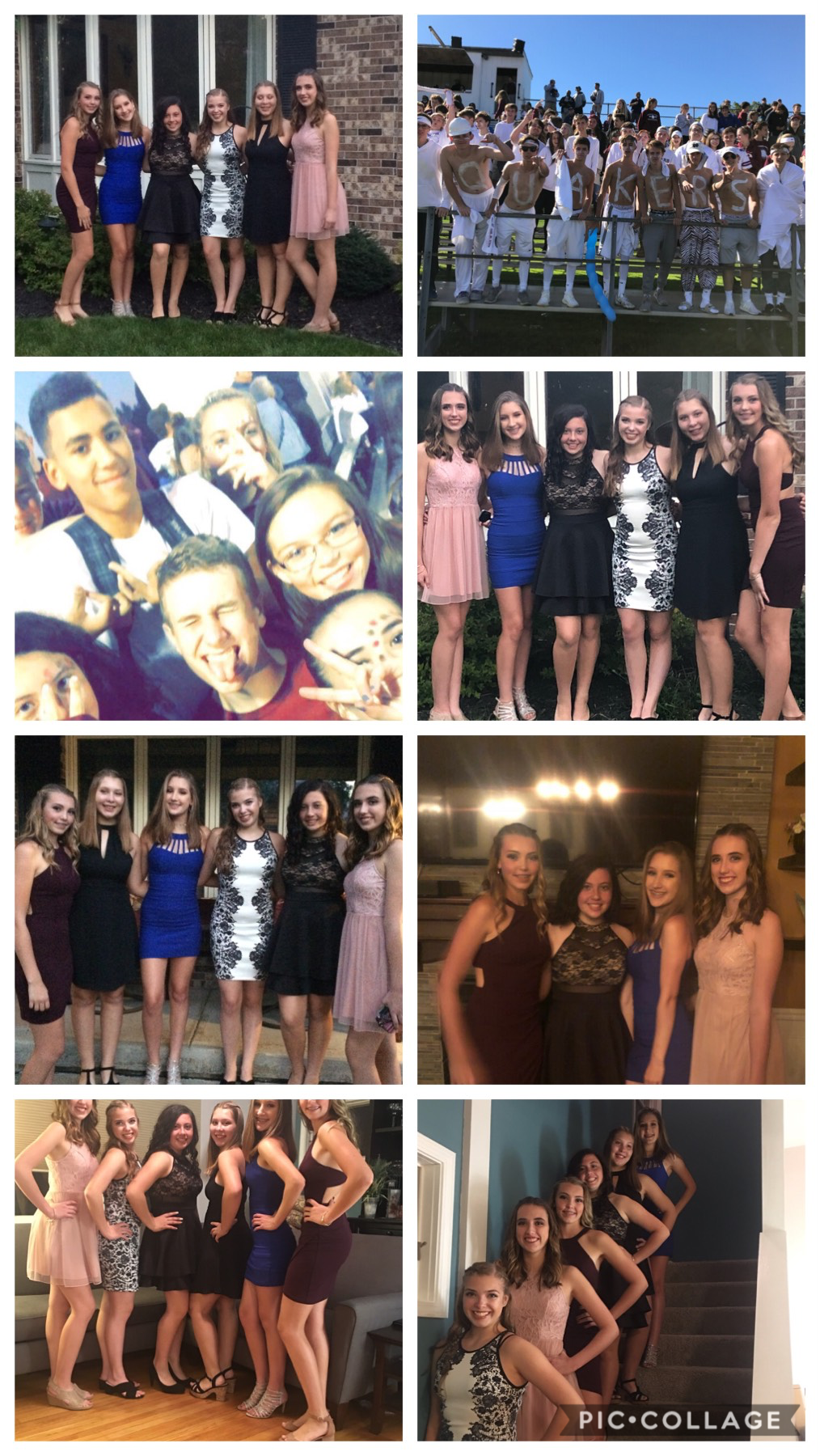 🧡Opportunity dances with those already dancing❤️#HOCO2018💜I had so much fun last night at the dance(middle)💛@kennedy@olivia@andrea@madeline@katie@miranda@jackson@bryce@ryan@henry@tristan💚thanks for an AMAZING first homecoming💙
