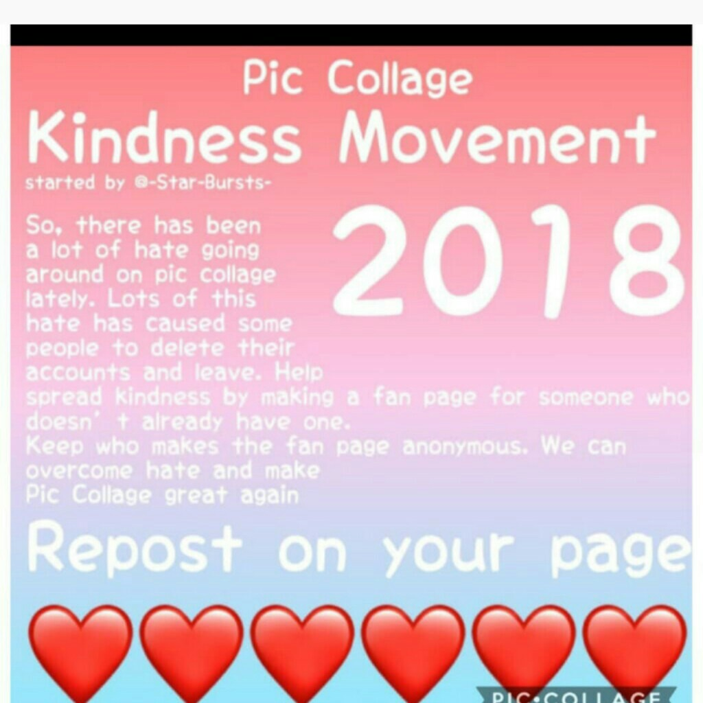 🚫i know i havent posted (tap)🚫 I know I haven't posted a real collage in forever but this is a huge movement going around and its real important now cuz I was followed by a hate page! just report their collages and block. stay confident ❤