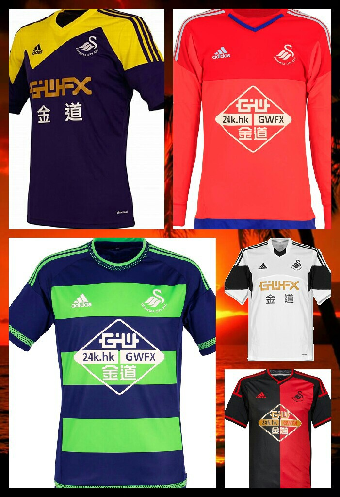 these are the swansea city football kits