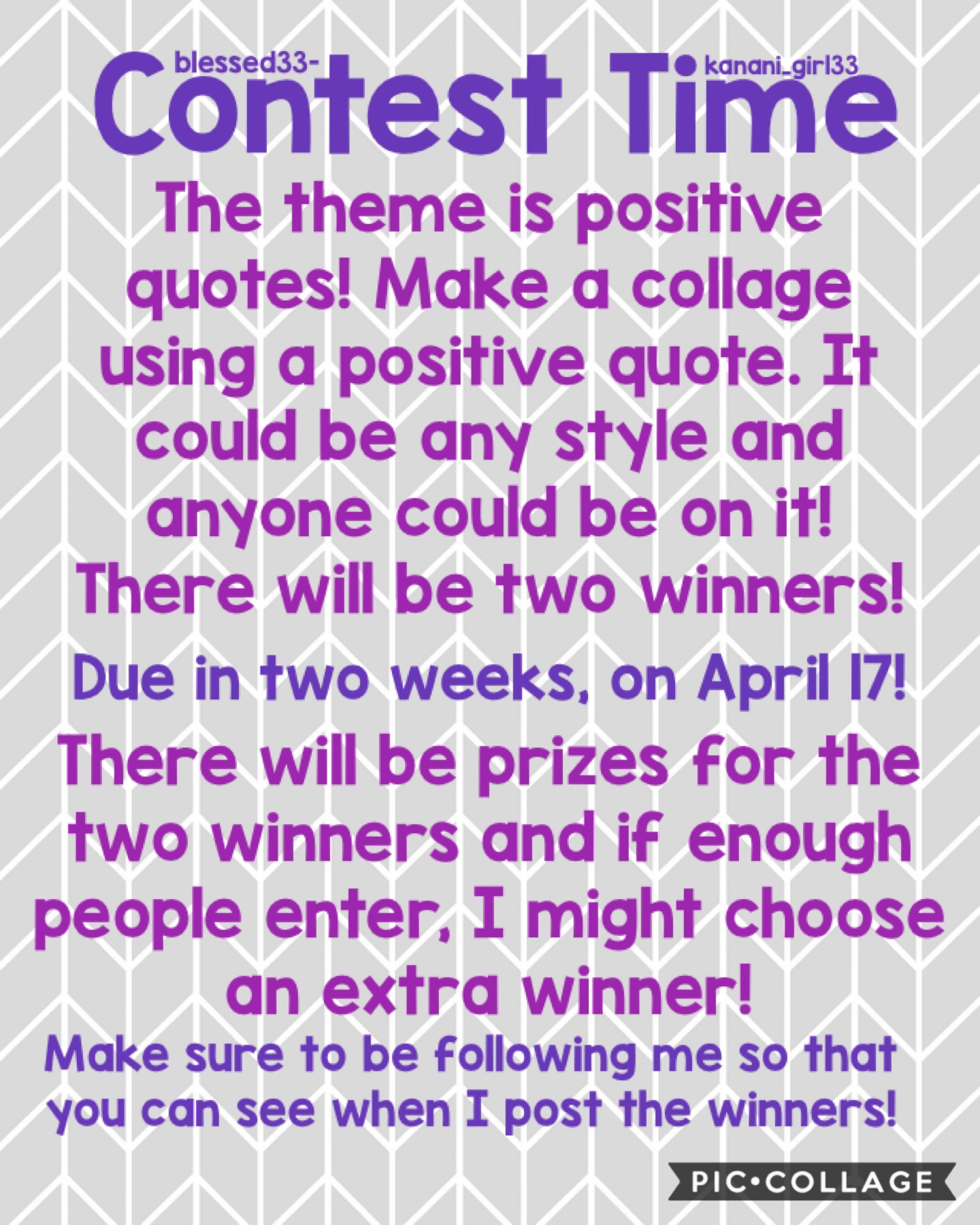 There will be amazing prizes for 2-3 winners!!! Let's spread some more positivity in the world! 💕♥️🔥