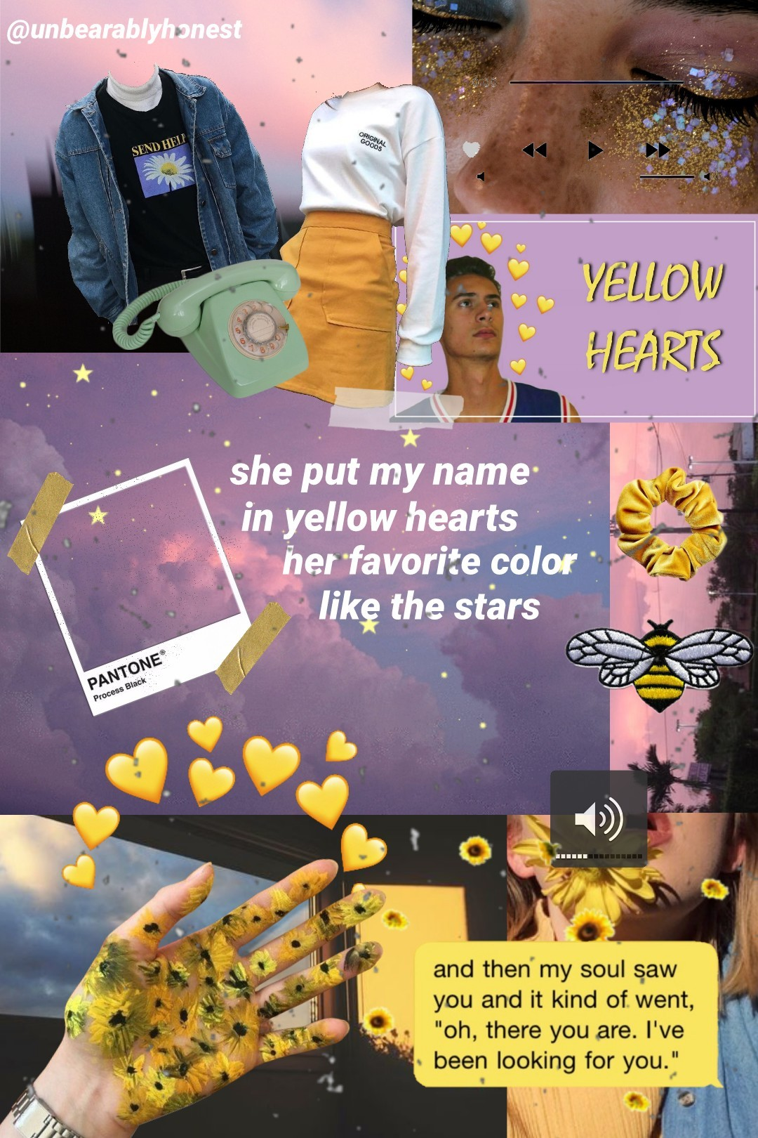 I haven't posted in while but this song is so good that I couldn't resist making a collage 💛