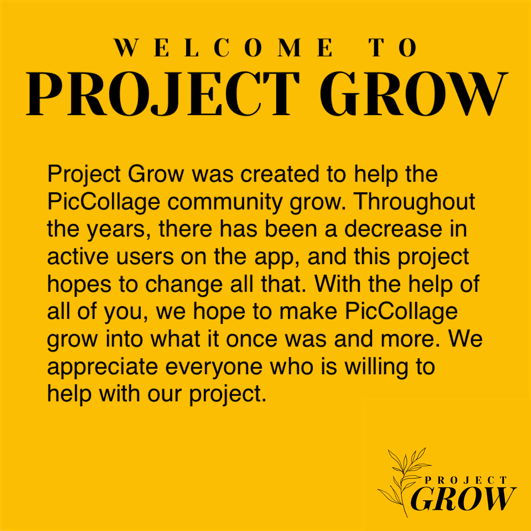 || PROJECT GROW ||