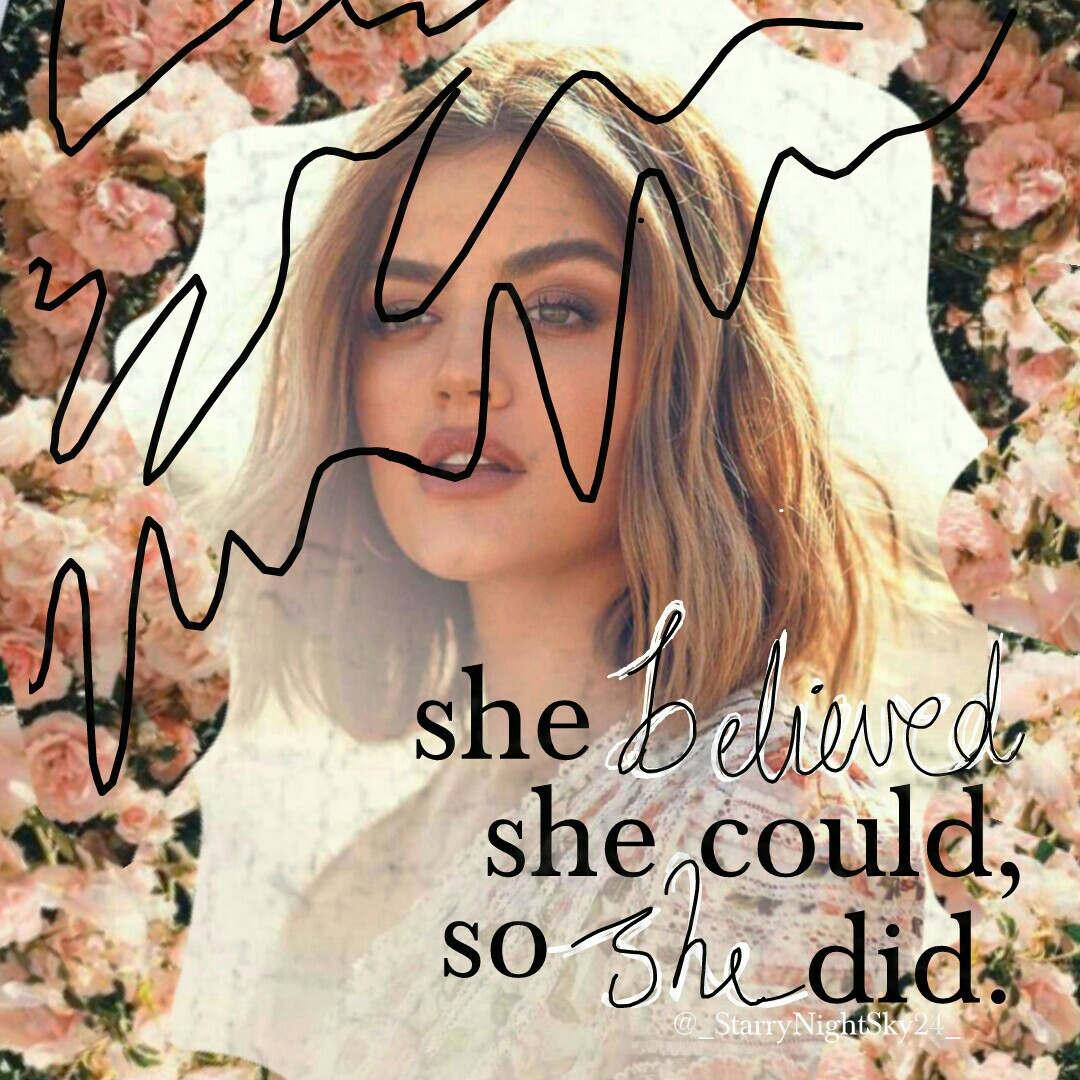 💕somehow this is inspired by @sparklegem....ik its nothing near their style, but i kinda like it. 😊💕 💕~23•5•18~💕 Also who LOVES Lucy Hale??❤❤❤