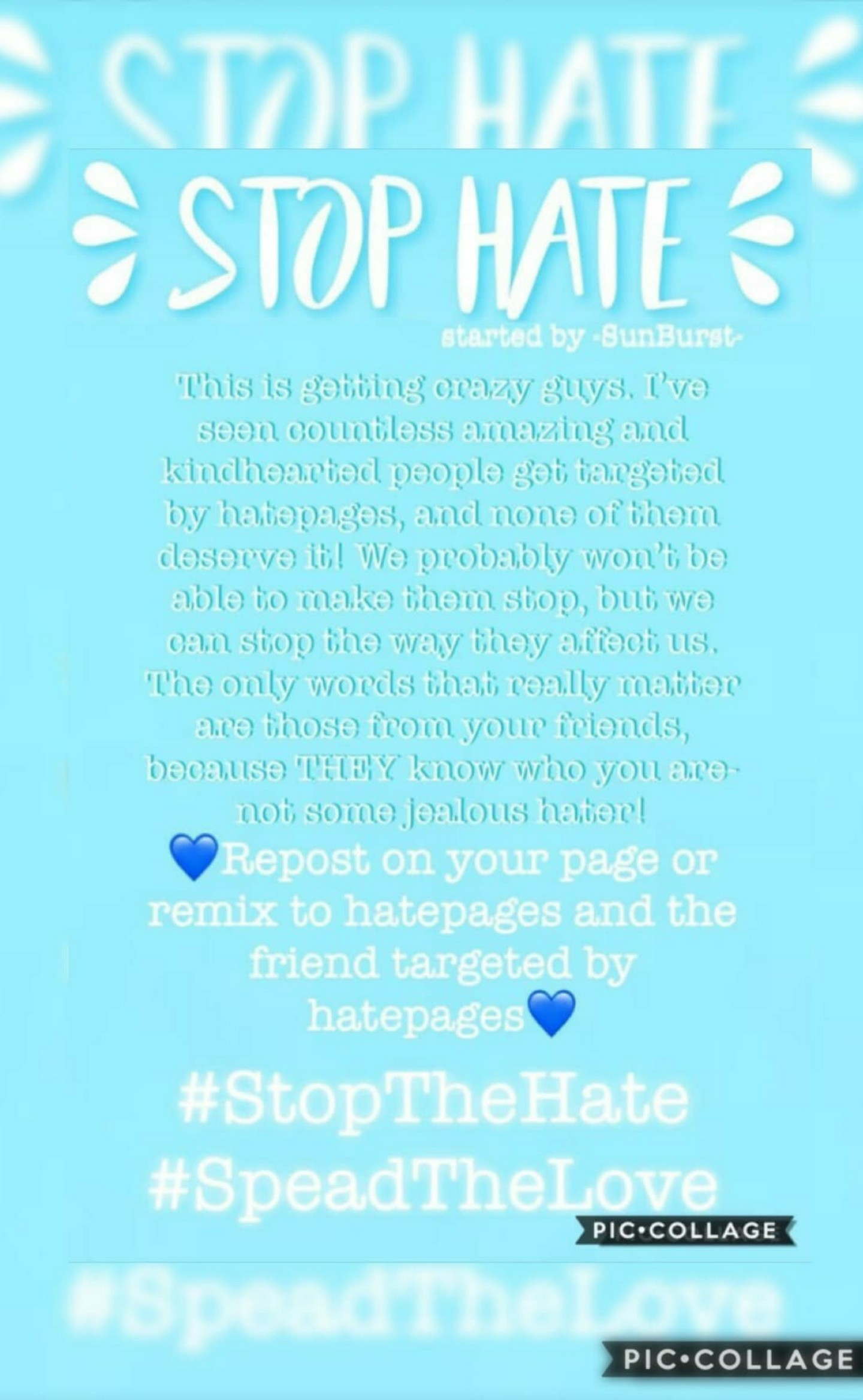 💙STOP THE HATE💙