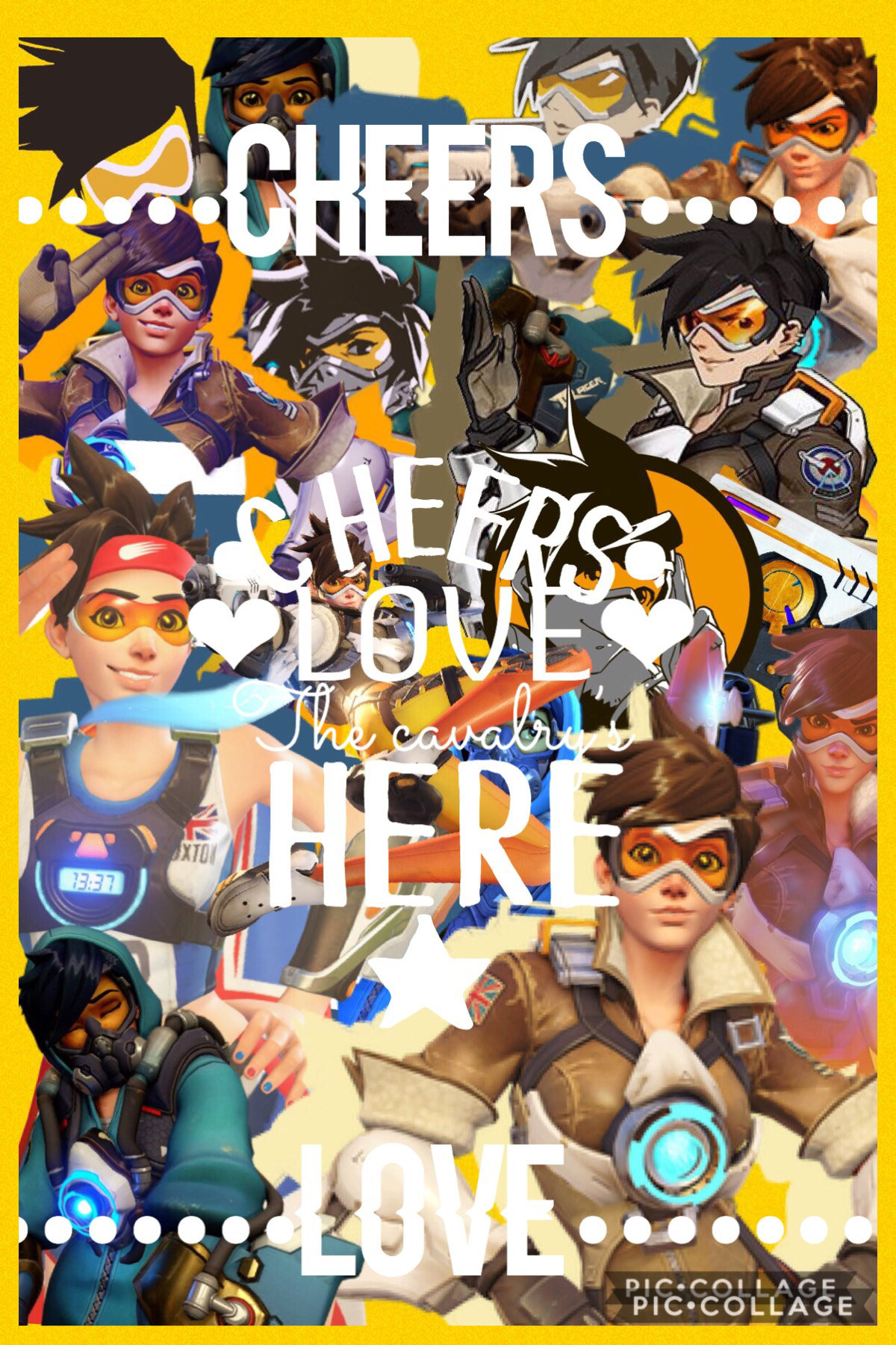 👾Tracer👾 (TAP)  I've hit a new low in this series....  #3 of my overwatch collage series~ What do you all think?