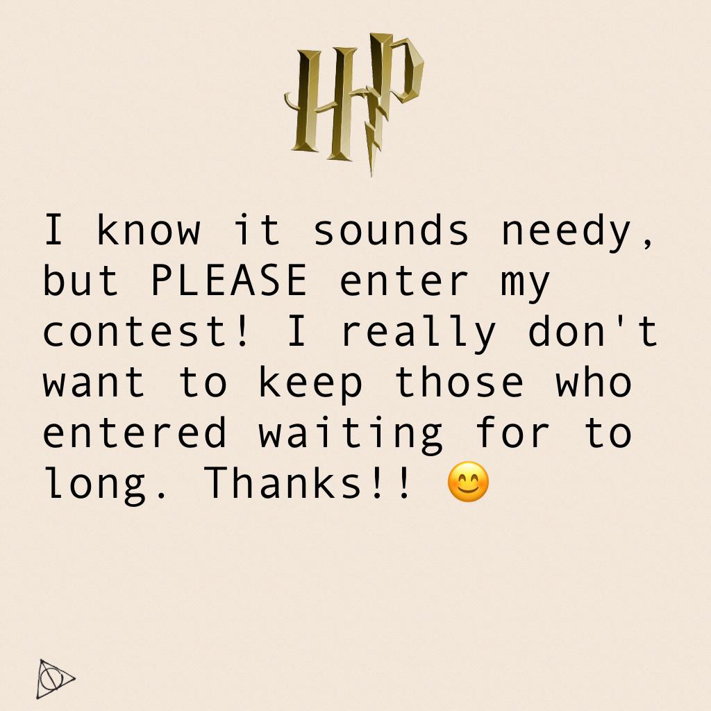 PLEASE ENTER!