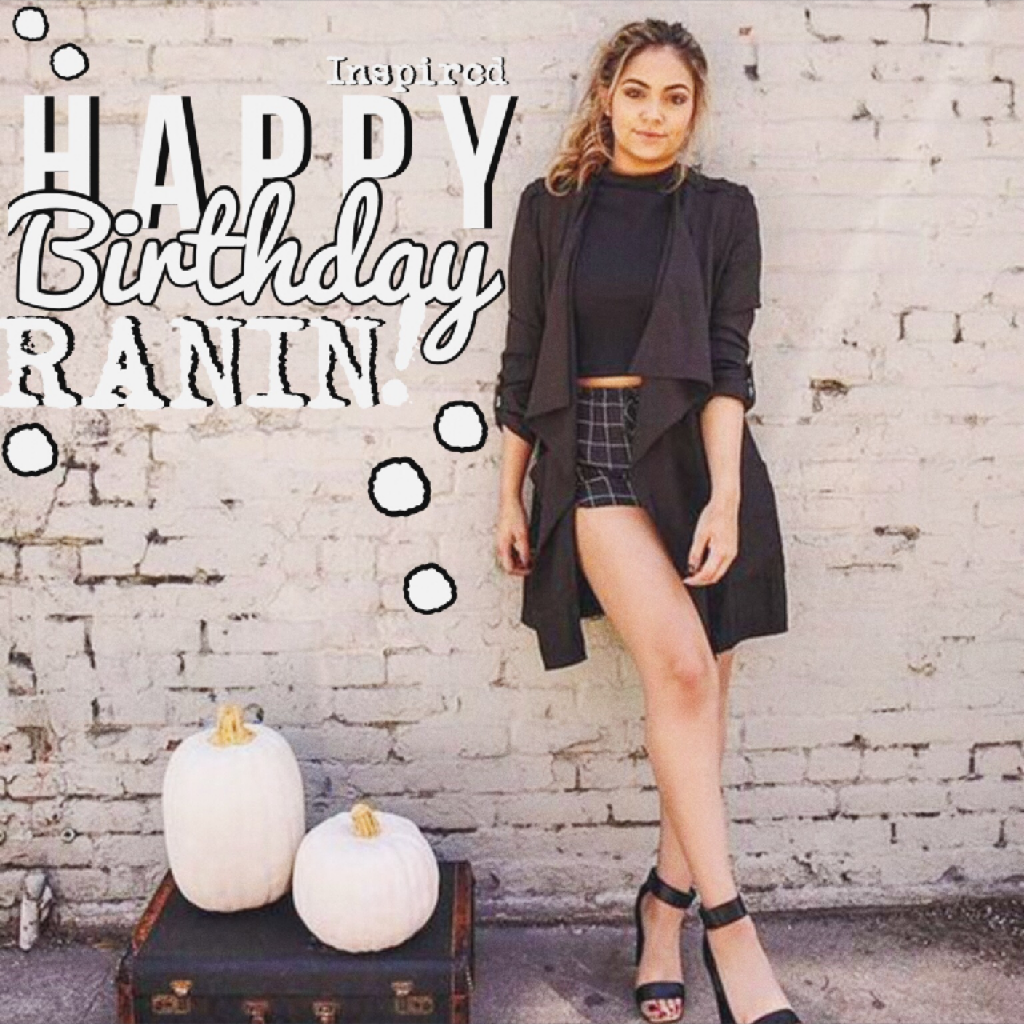 This is really late but happy belated birthday, Ranin!!! I hope you had a good birthday :)!!