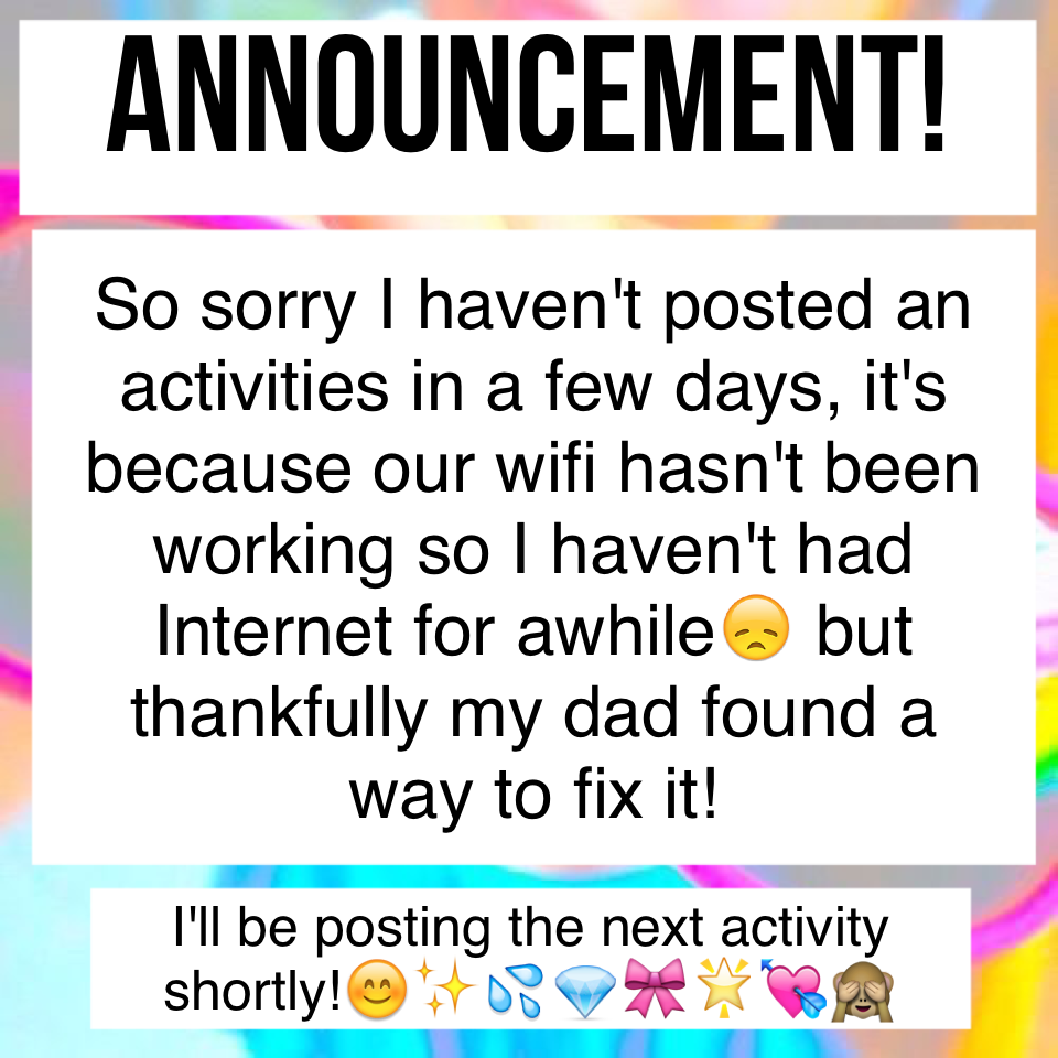 Announcement!