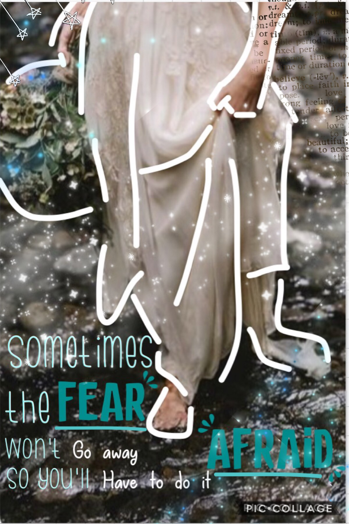 🌊Tap🌊   'Sometimes the fear won't go away so you'll have to do it afraid'  Hi everyone! How's your day going? I hope you like this one, I wanted to make a collage about overcoming fear. I'm sorry if I'm taking a while to enter contests, make icons and any