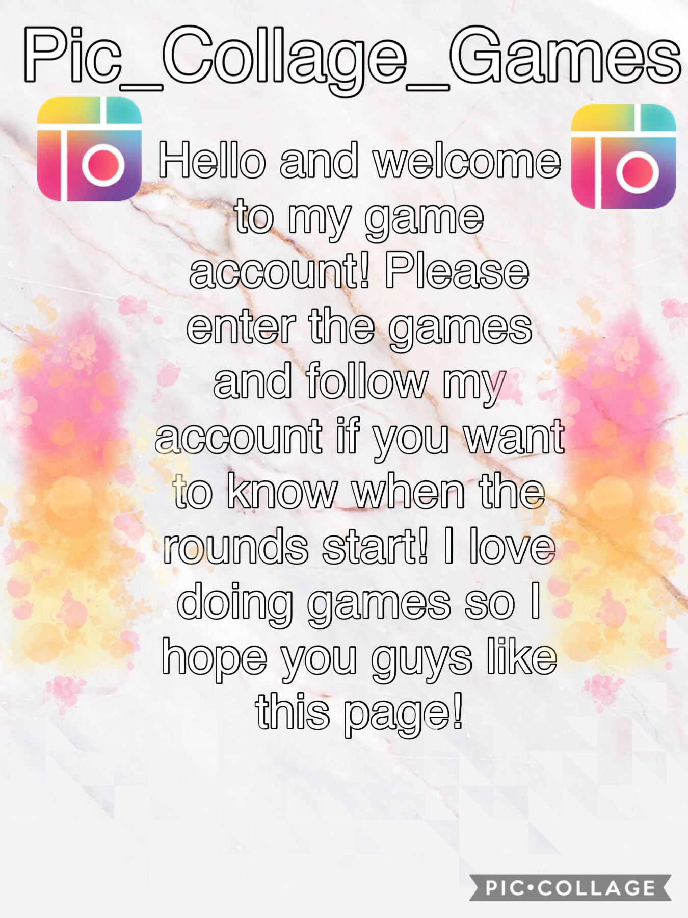 It's the Pic_Collage_Games! The next post is the first game sign ups!