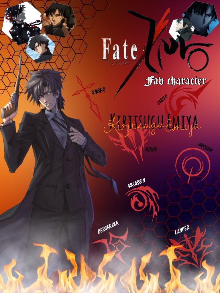 Fav character series: Fate/Zero - Kiritsugu Emiya