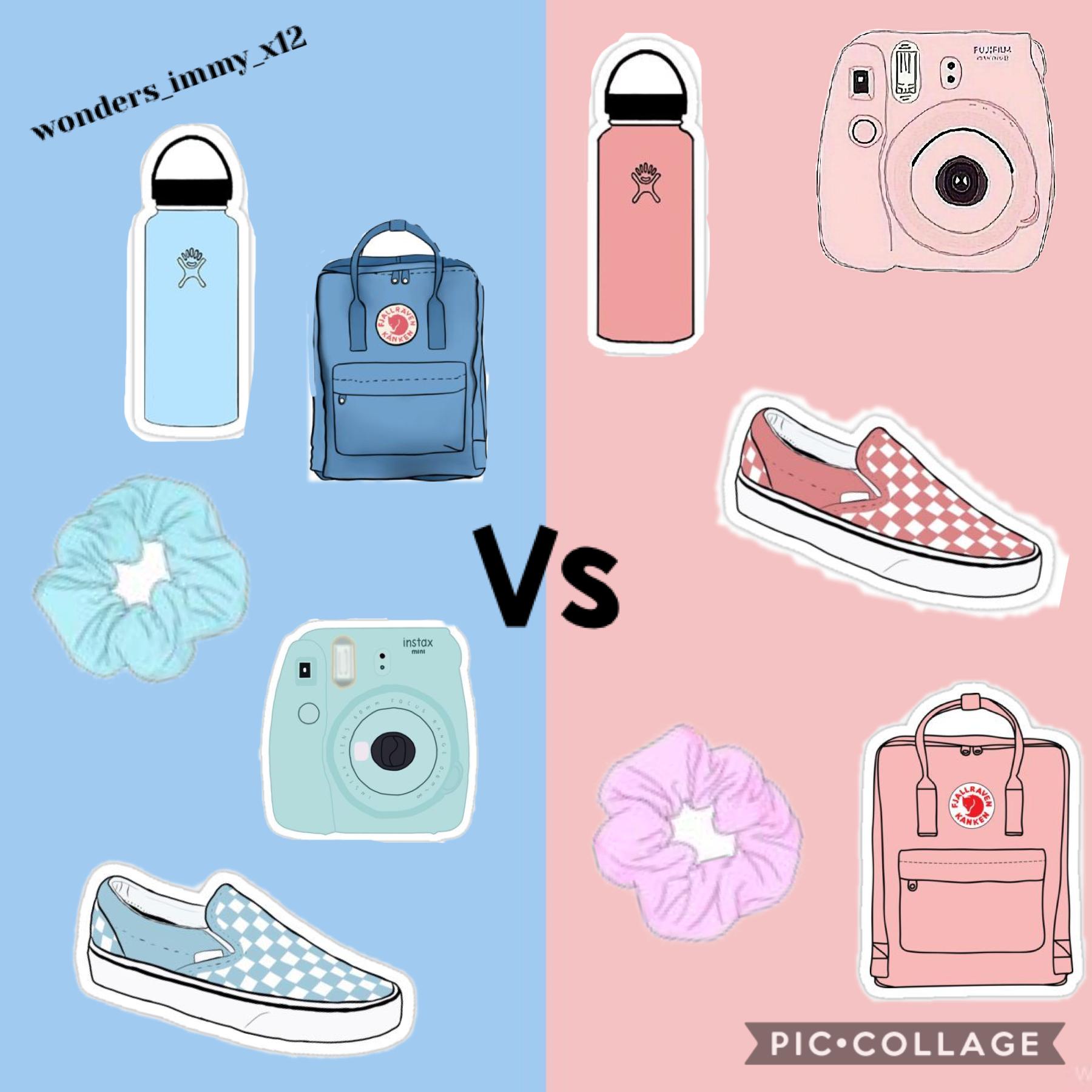 Which one do u prefer? Pink or blue 💙💠❄️💖💞💕