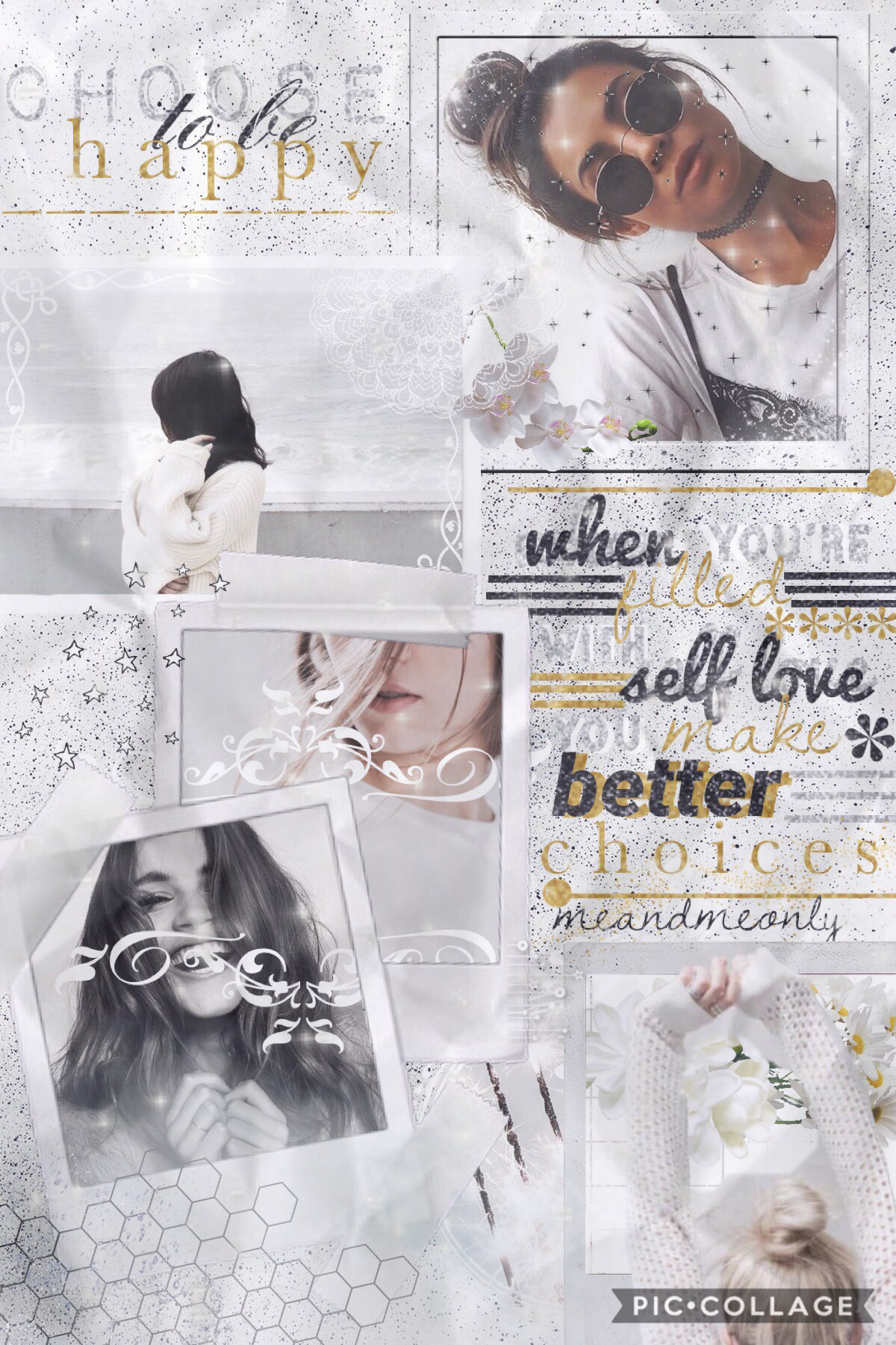 hola! so schools again tomorrow :( so I won't be as active. idk if it's just me, but I love looking at my older collages and seeing how much I have changed!💫 QOTD: time you go to bed on school day? AOTD: 9:00-9:30pm✨🌿