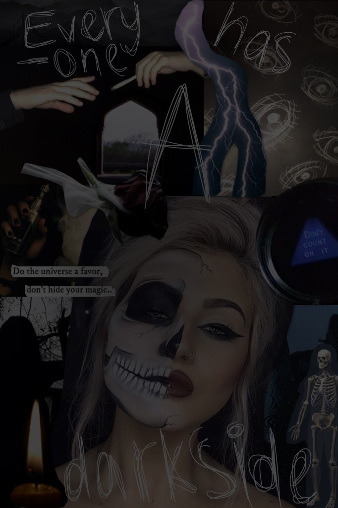 Sort of a Halloween type collage, but also a meaningful collage. The lettering was 100% inspired by @ASTRID_SAENZ who is an actual queen at collaging, so GO follow her, unless you (most likely) are already following her. 😉💕love you all -Soph