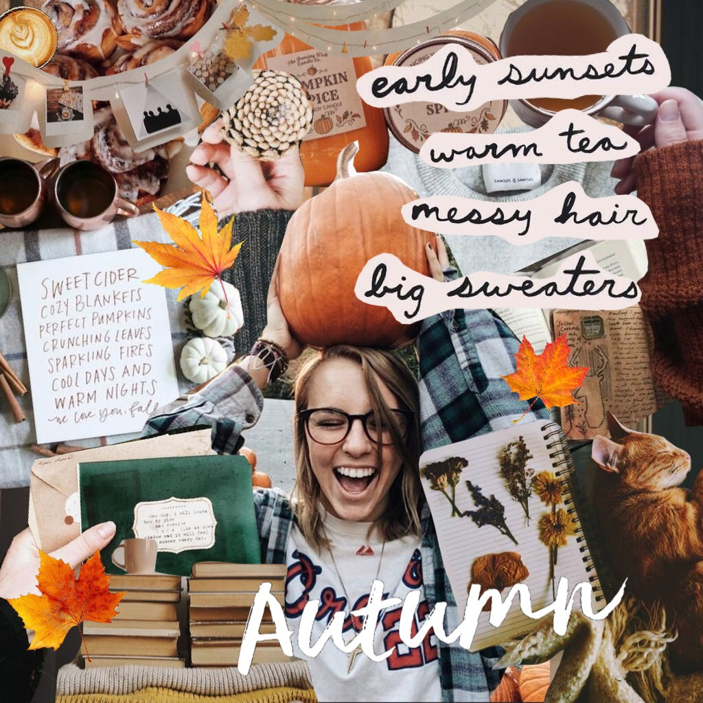 It turned autumn officially a minute ago! 🍂 As a celebration of the new season, I decided to make a scrap collage theme! Happy fall! 🍁