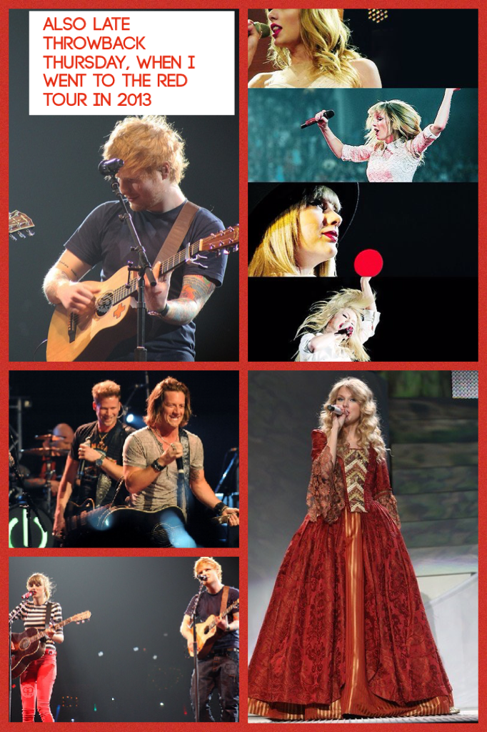 Also late throwback Thursday  from last Thursday, when I went to the Red tour in 2013!☺️🤗❤️💛💙💚💜💖👏🏼😻