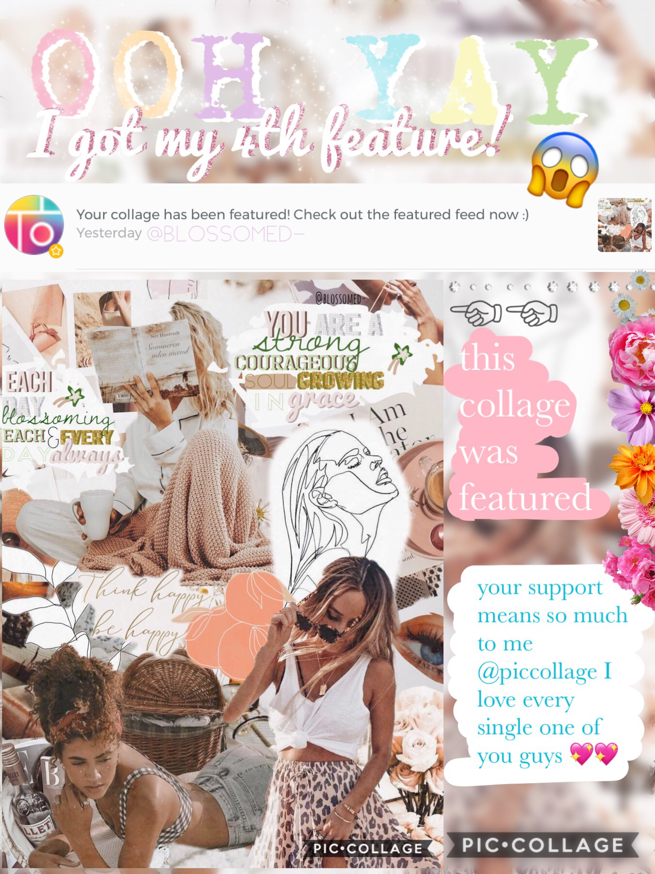hiya everyone🌿 whoa I'm so grateful for this💖 it means the world to me literally⚡️🍋 pic collage is really important to me so thank you for making it special for me🍡🌞 yee a new edit coming soon!! get exciteddd haha🥰