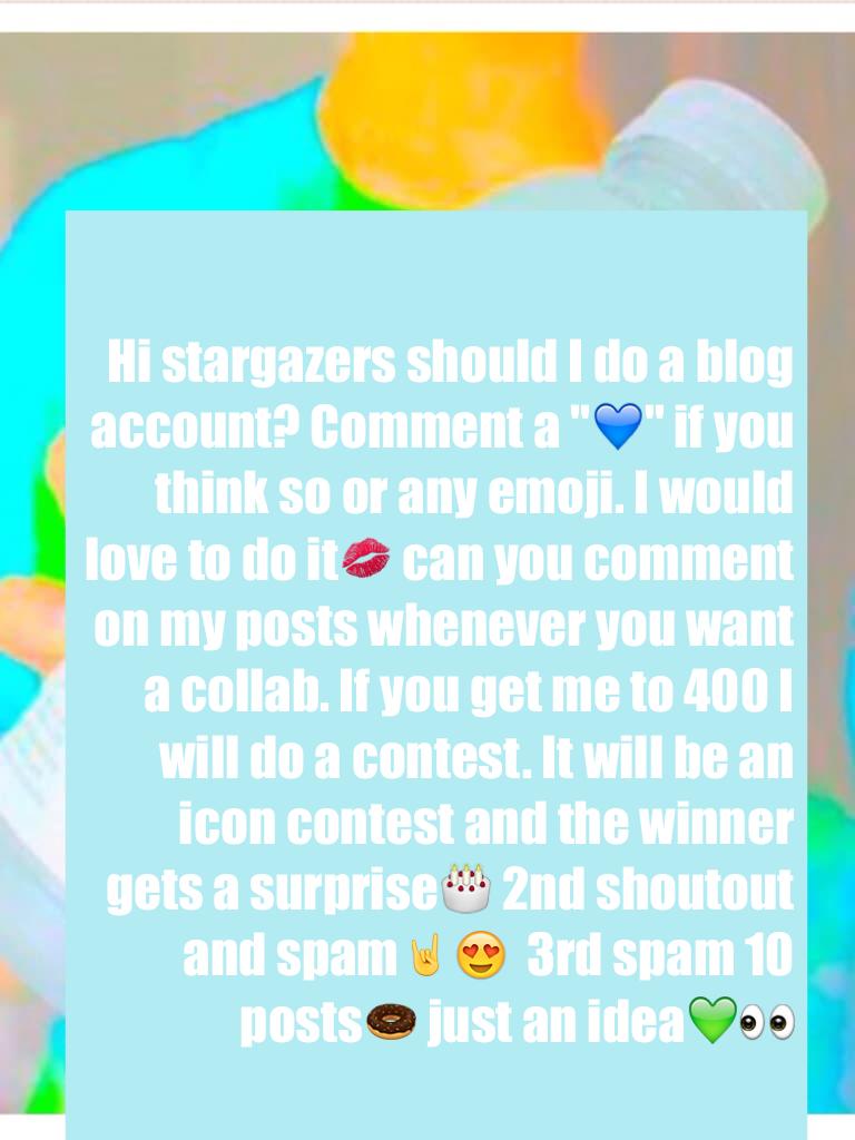 Start commenting in 5,4,3,2,1 GOOOOOOO💙
