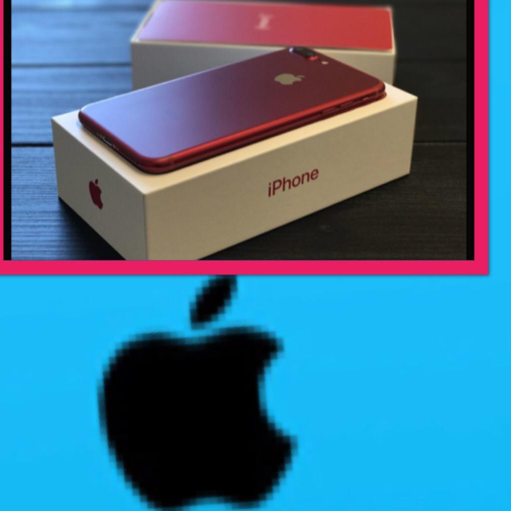 Red iPhone 7plus!!!