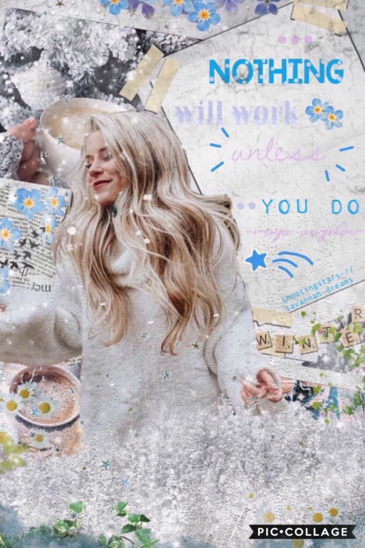 ❄️collab with.. tap❄️ savannah-dreams!! Omg savvy is so talented y'all have to follow her!!💓✨i did bg and she did text!! The bg looks so terrible lol, what's up everyone? Omg school ends in two weeks and I'm so happy!!✨🥳hehe anyway hope you guys have a gr