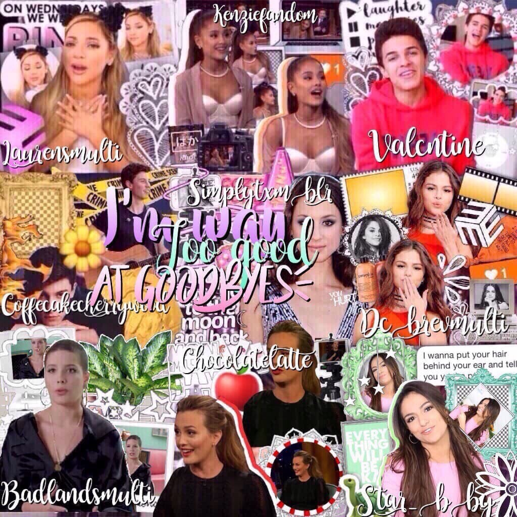 {10/22/17} litty mega collab with these wonderful people! I'm very excited to post a Beth edit I made but you'll just have to wait ;)  QOTD: what're you being for Halloween, if you celebrate it? AOTD: old Taylor Swift (you belong with me)