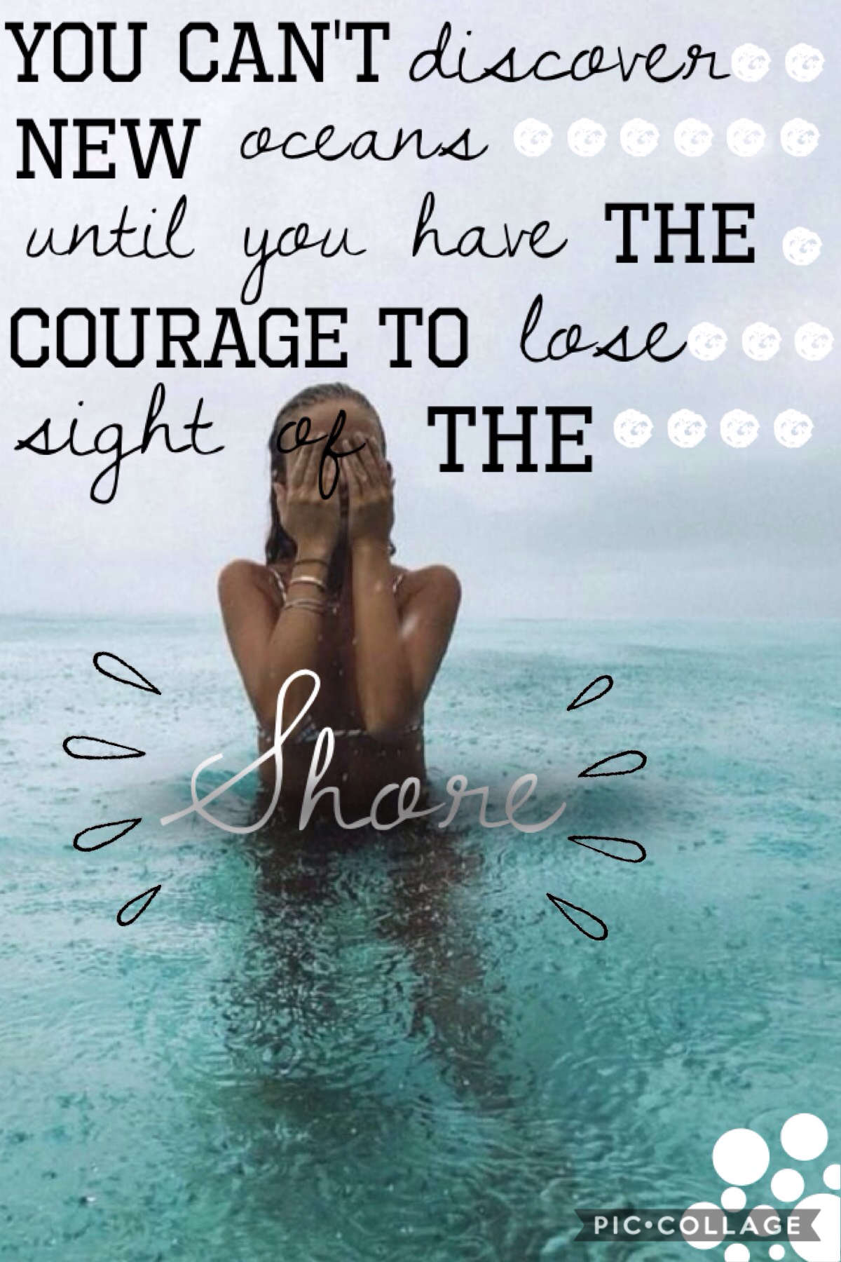Tap!  I know this isn't the best collage but I like the quote and I had the background so I made the collage           * woah*