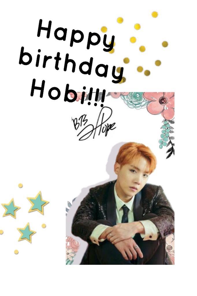 Happy birthday Hobi!!!
