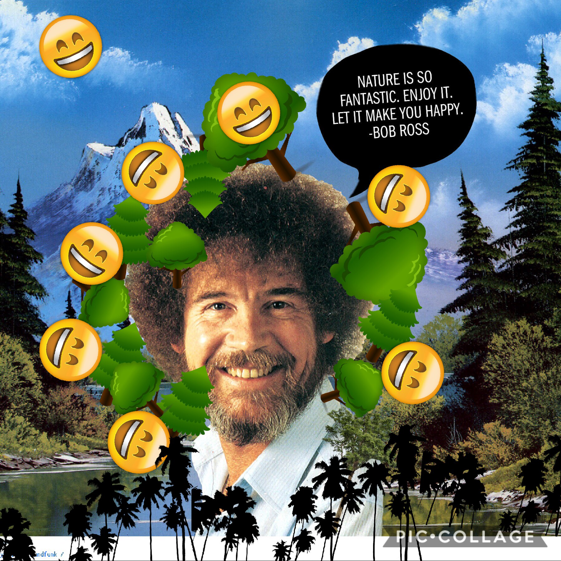 Bob Ross is the definition of joy🌲🙃🌲 8/20/2018
